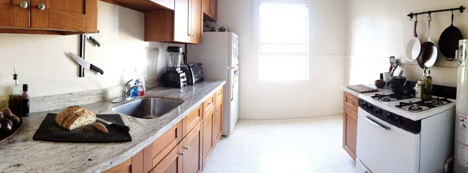 After: C's kitchen is transformed into an airy, spacious and highly cooking-friendly space.