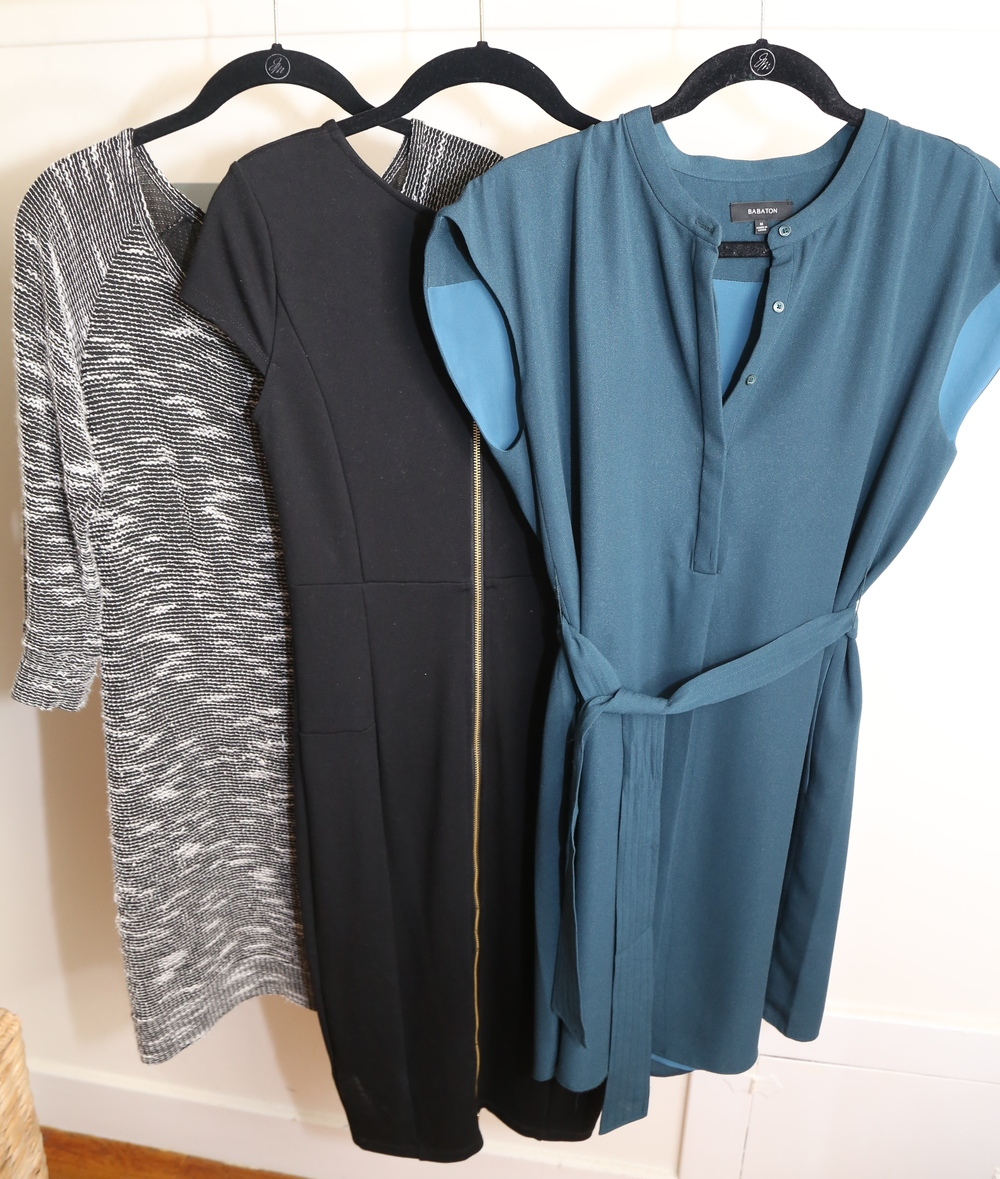 My three winter dresses.