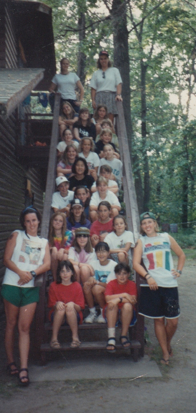 The Oriole cabin at Camp Lake Hubert circa 1993.  A brief but catalytic and deeply happy memory.  Also, this photo was mailed to me by my camp bestie, Annelyse, during our 3 year penpal spell.  Rad, right?