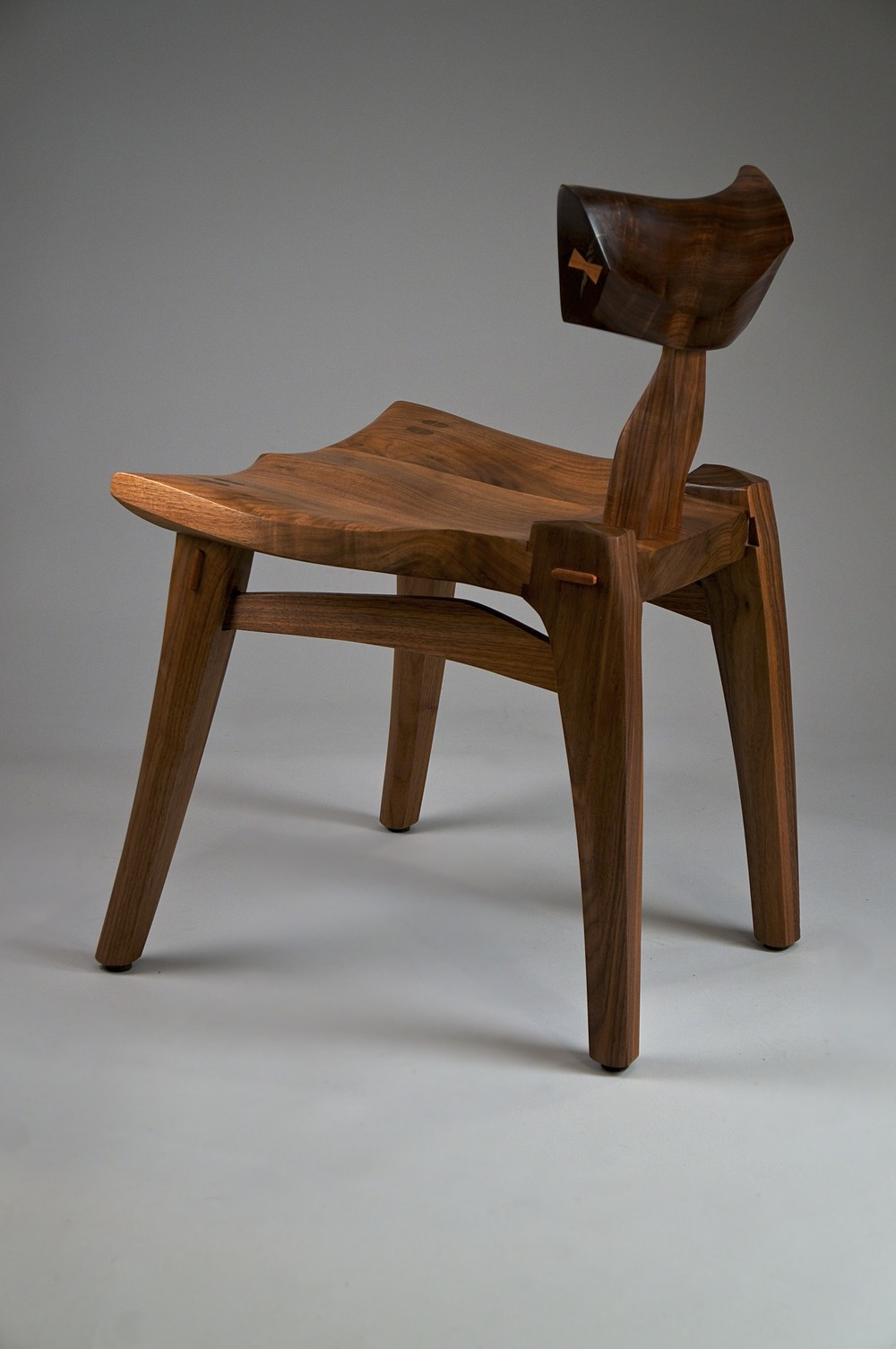 Milan low chair in black walnut