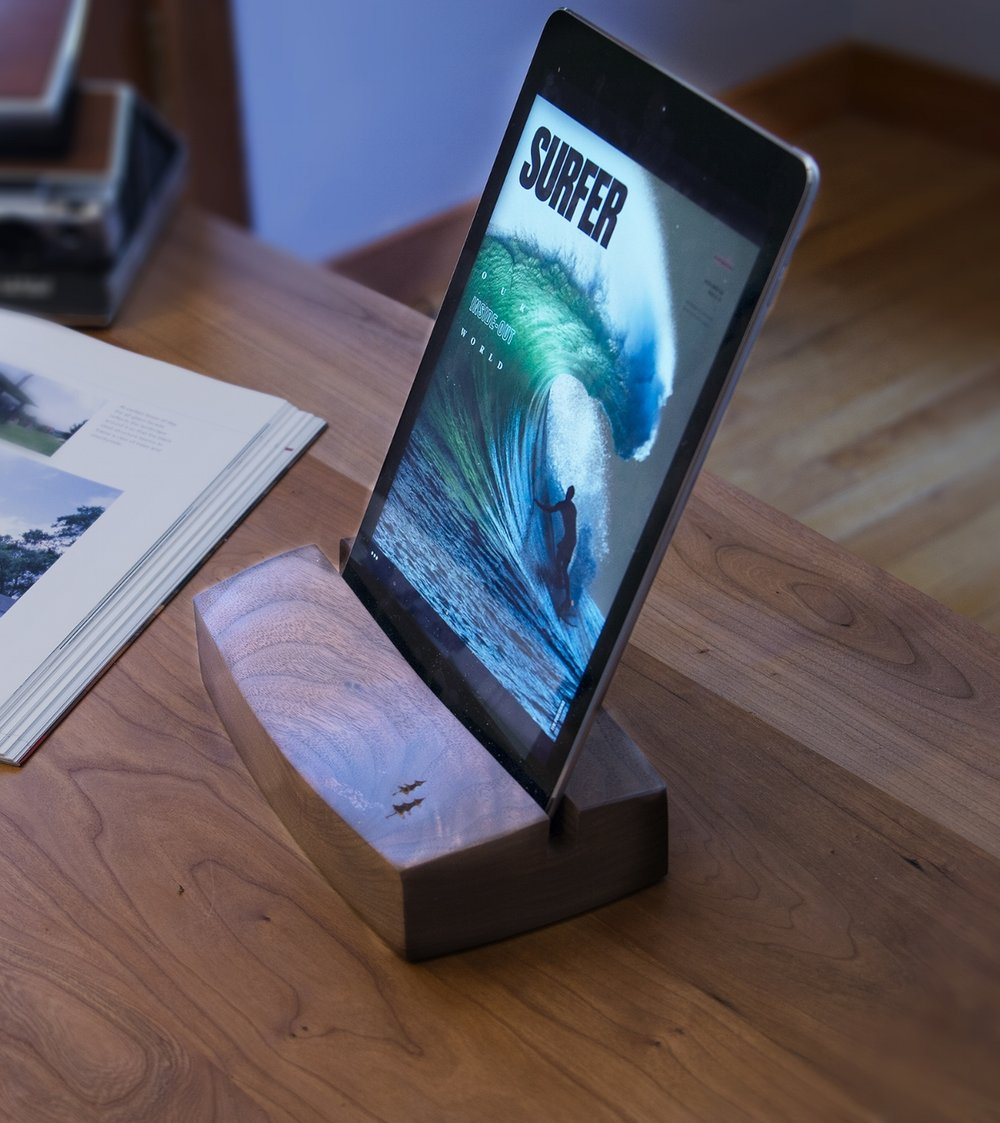 Ipad Holder in walnut