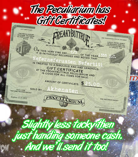 We've got gift certificates!!!