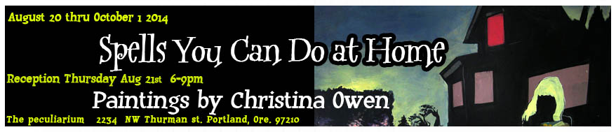 Portland Artist Christina Owen opens her painting show on August 20th. Come by for art and snacks 6-9.