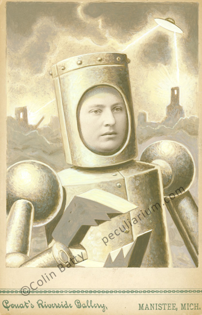 Armored woman during ufo attack sm.jpg