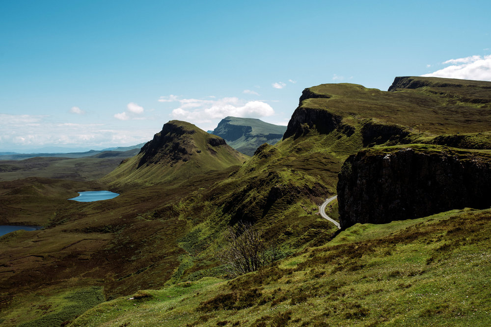 The view from The Quiraing over to the south Skye.
