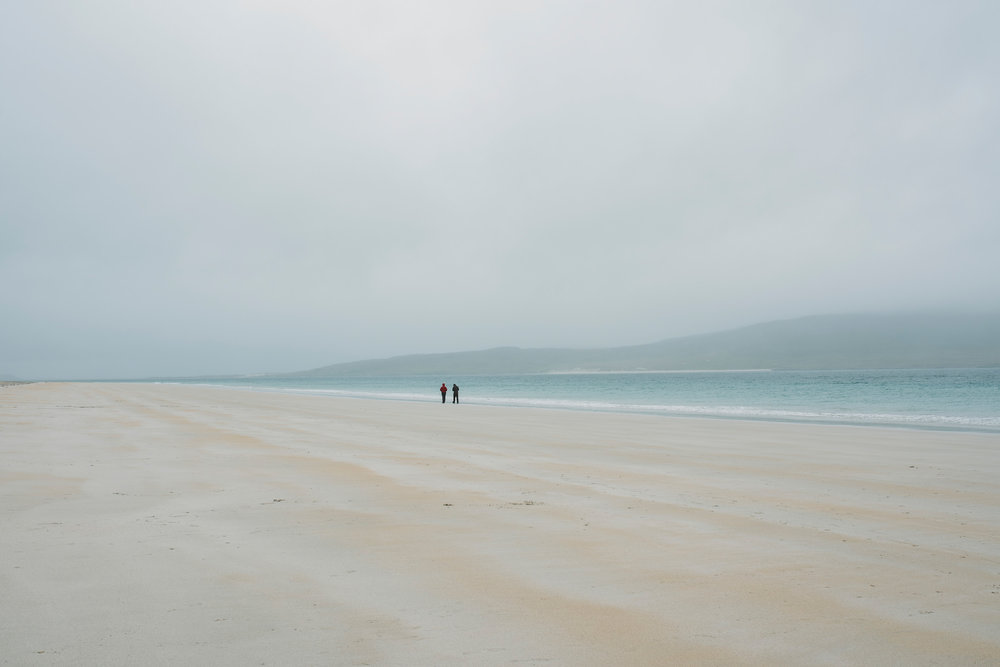 Luskentyre looking incredible in the mist and rain.
