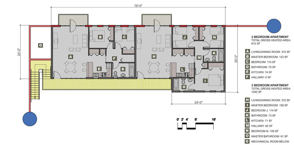 Typical Apartment Building Plan