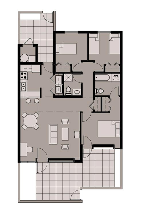 3 Bedroom Unit Floor Plan