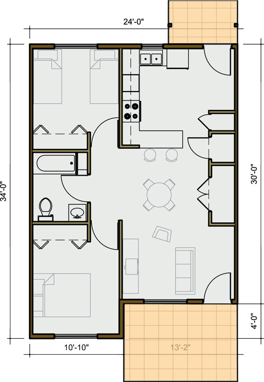 2 Bedroom Unit Plan