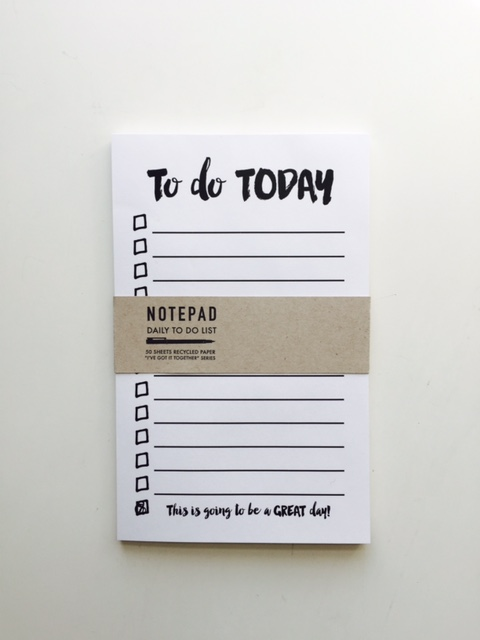 Daily to-do notepad