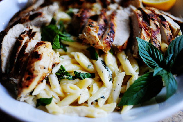 Pioneer Woman's Grilled Chicken with Lemon Basil Pasta (photo via Pioneer Woman)