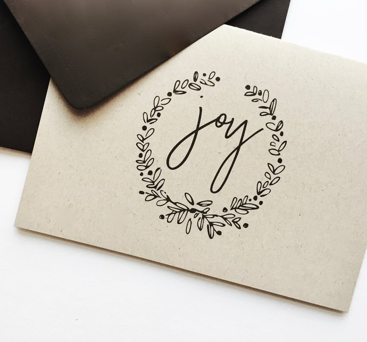rustic + recycled joy holiday card (set of 8) | corporate holiday ...