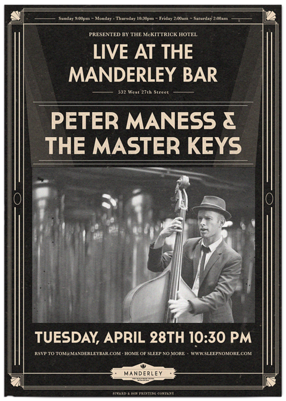 Peter and the master keys live jazz and blues at the mckittrick's manderley bar, new york city! They are a great jazz band for wedding receptions and cocktail hours.