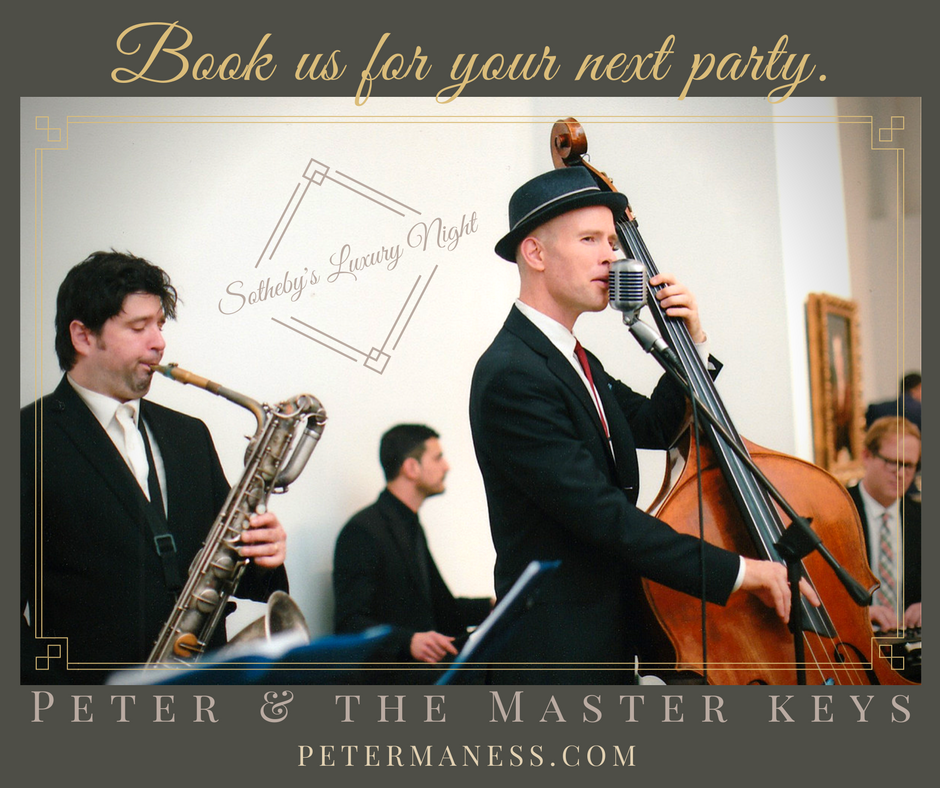 Peter & the master keys play live jazz and blues at sotheby's luxury night! They are the best jazz band for wedding receptions and cocktail hours in New york city.