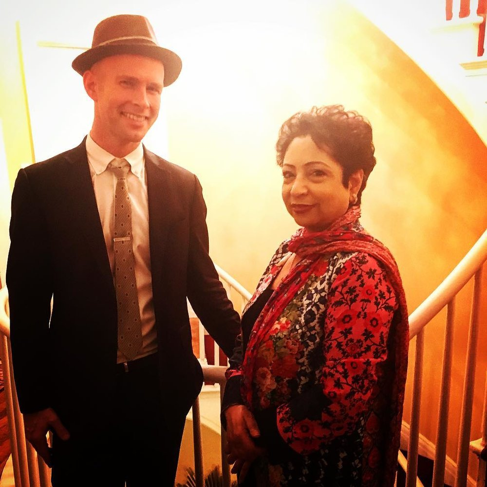 Peter maness with dr. maleeha lodhi, pakistani ambassador to the u.n.