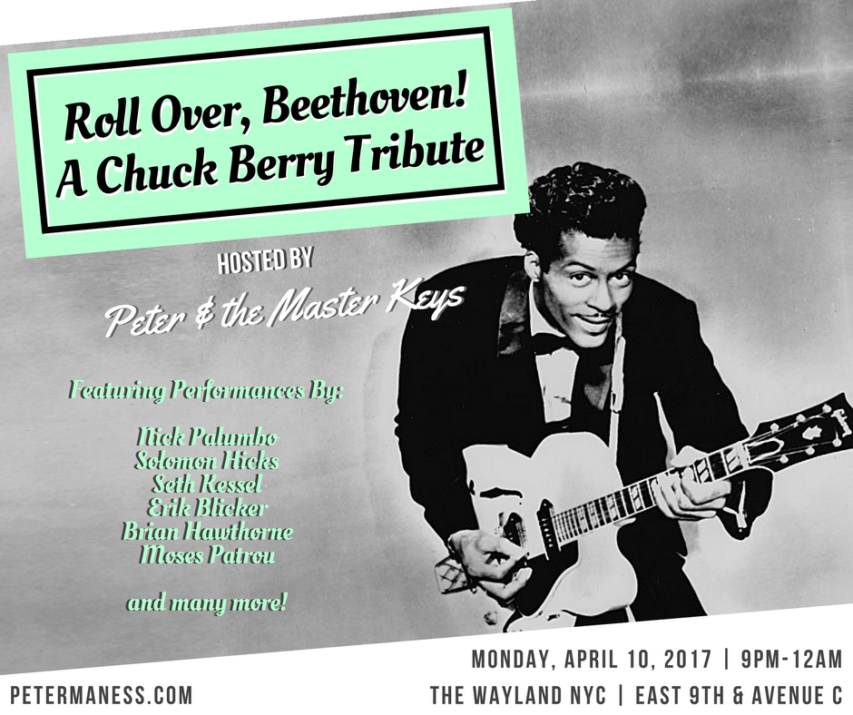 Chuck Berry night at the Wayland East village. blues jazz and rock n roll music