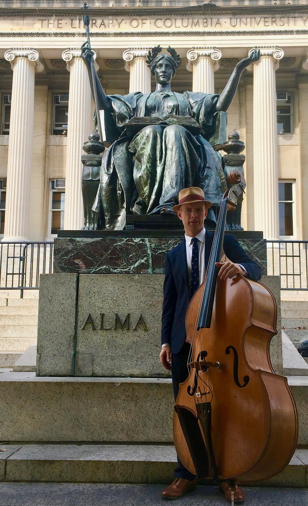 Peter and the Master Keys play blues and jazz for an event for incoming graduate students at Columbia University.