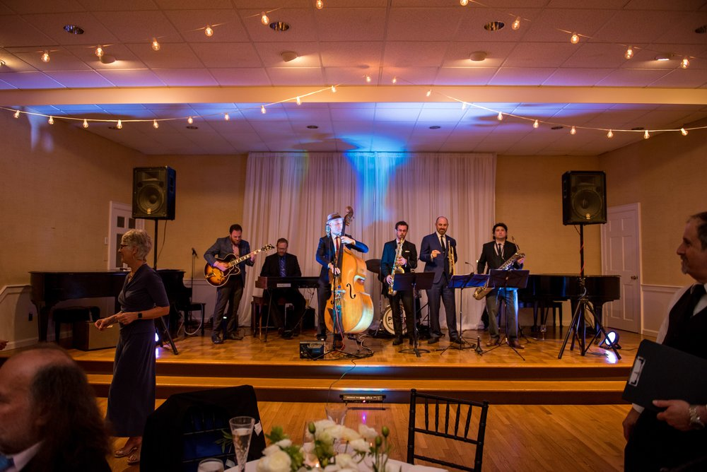 Jazz wedding reception in Darien, CT