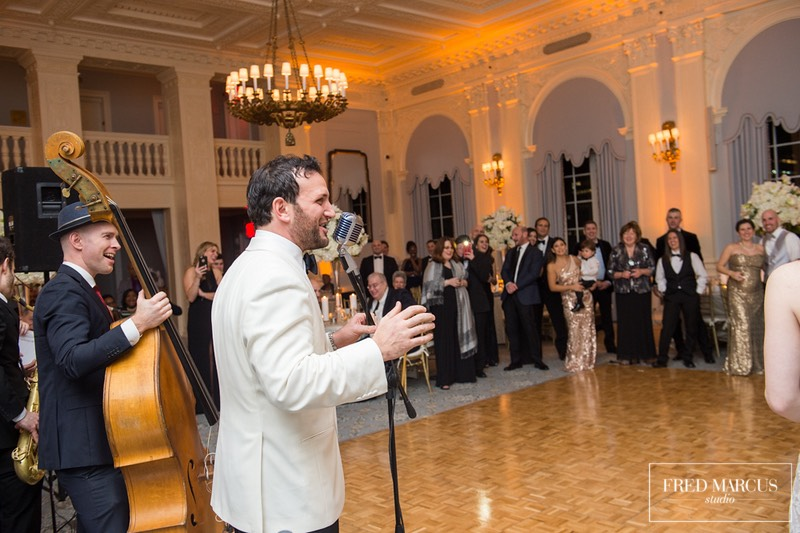 Peter & the Master Keys with the groom at the Yale Club in NYC