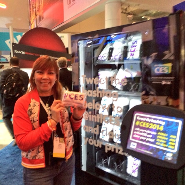 First Social Media Vending Machine at International CES