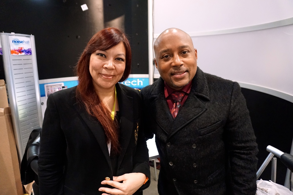 "Leah Hovig  &   Daymond John , entrepreneur, marketing expert, founder of fashion brand FUBU, and one of the stars of ABC's ""Shark Tank"" reality TV show."