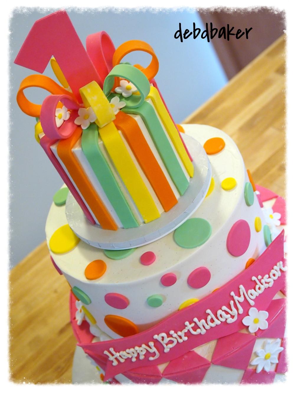 1st Birthday Cake for Madison