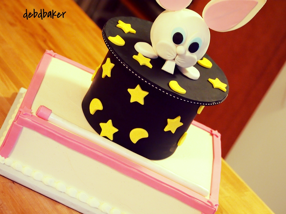 A Girl's Magic Show Cake