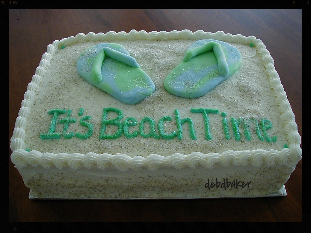 Retiring to the Beach Cake 1