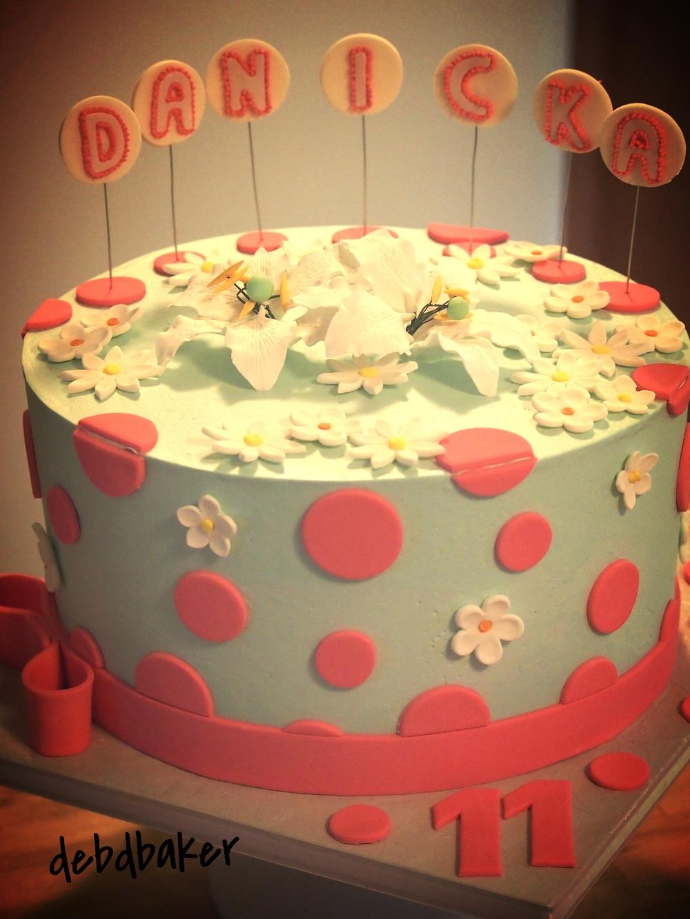 Danicka's 11th Birthday Cake