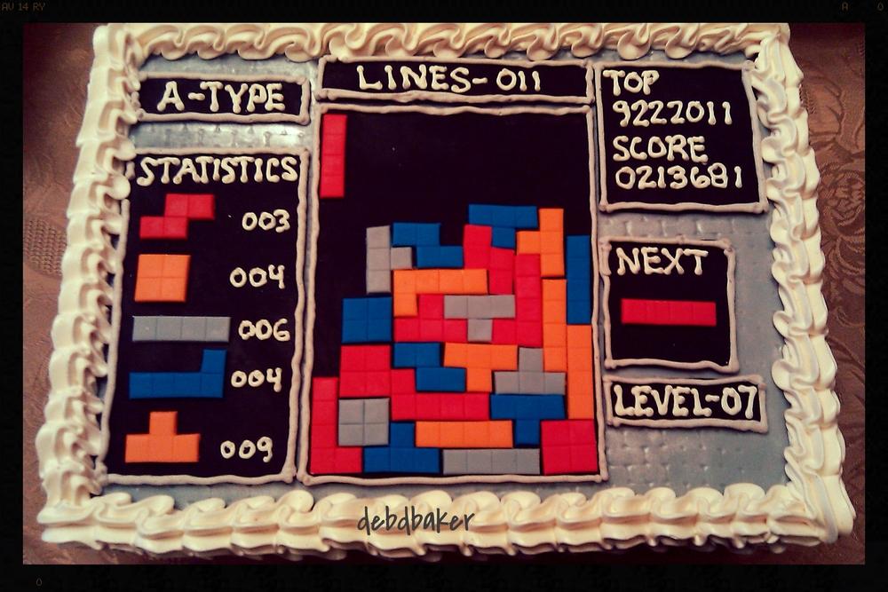 Tetris Cake