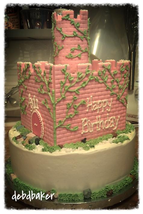 A Princess Castle Cake
