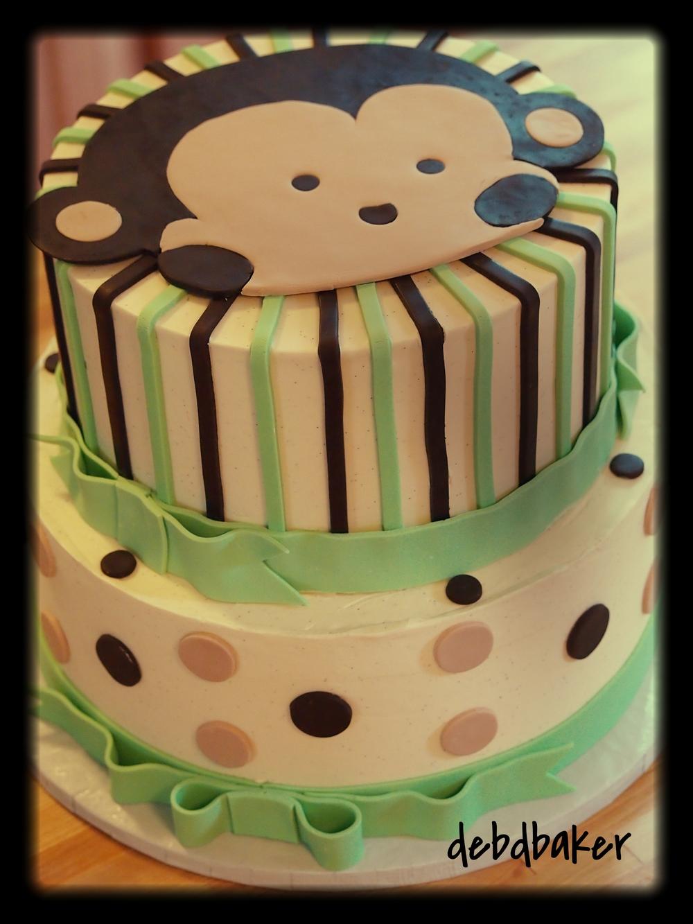 Baby Shower Monkey Cake