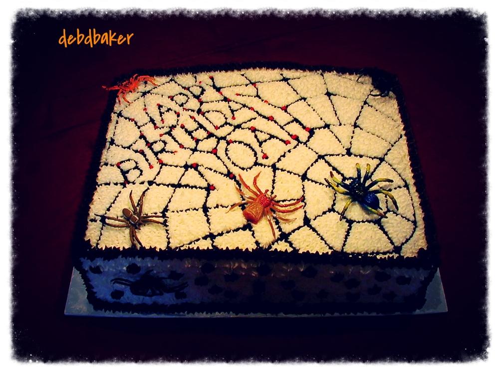 A Creepy, Crawly Spider Cake