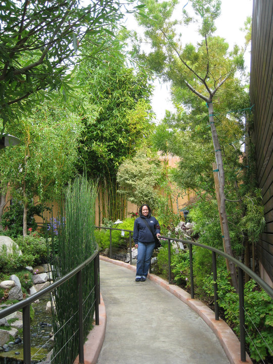 At Imperial Tea Court, Berkeley, circa 2010. Picture taken by her sister, Karen. Here, Debbie is proudly wearing her Western Culinary hoodie.