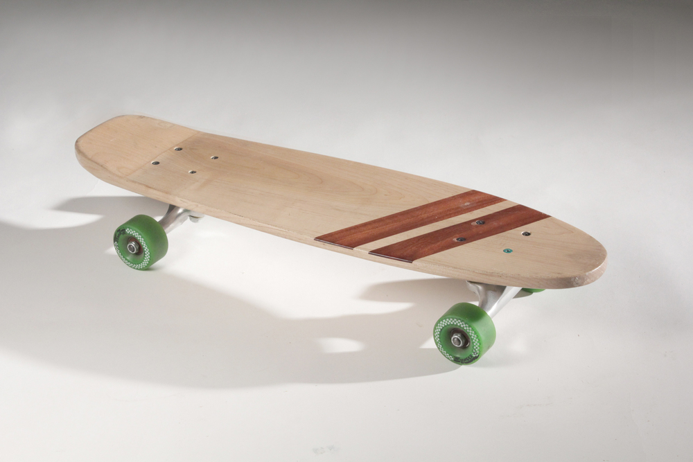 Skateboard, 2010   Maple with mystery wood inlay.