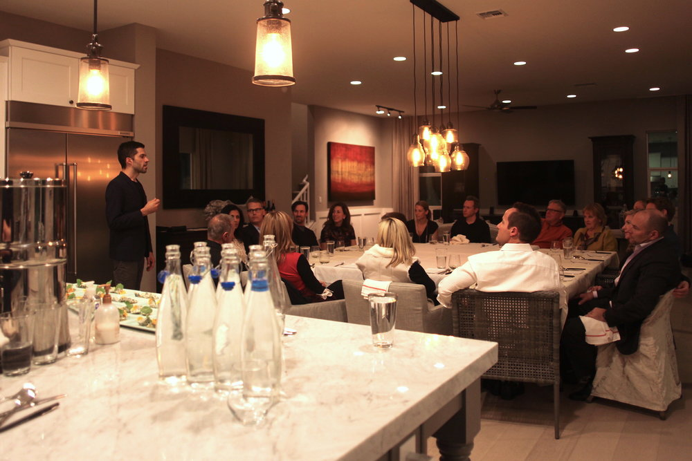 savor dining event in private home, 16 guests