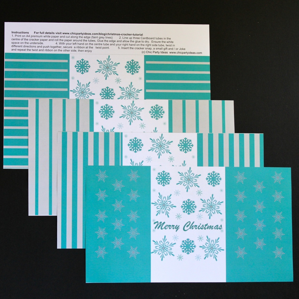 Christmas Printable Range - Cracker Package