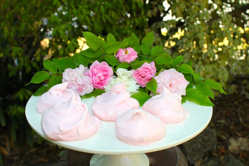 Rose Scented Pink Meringues