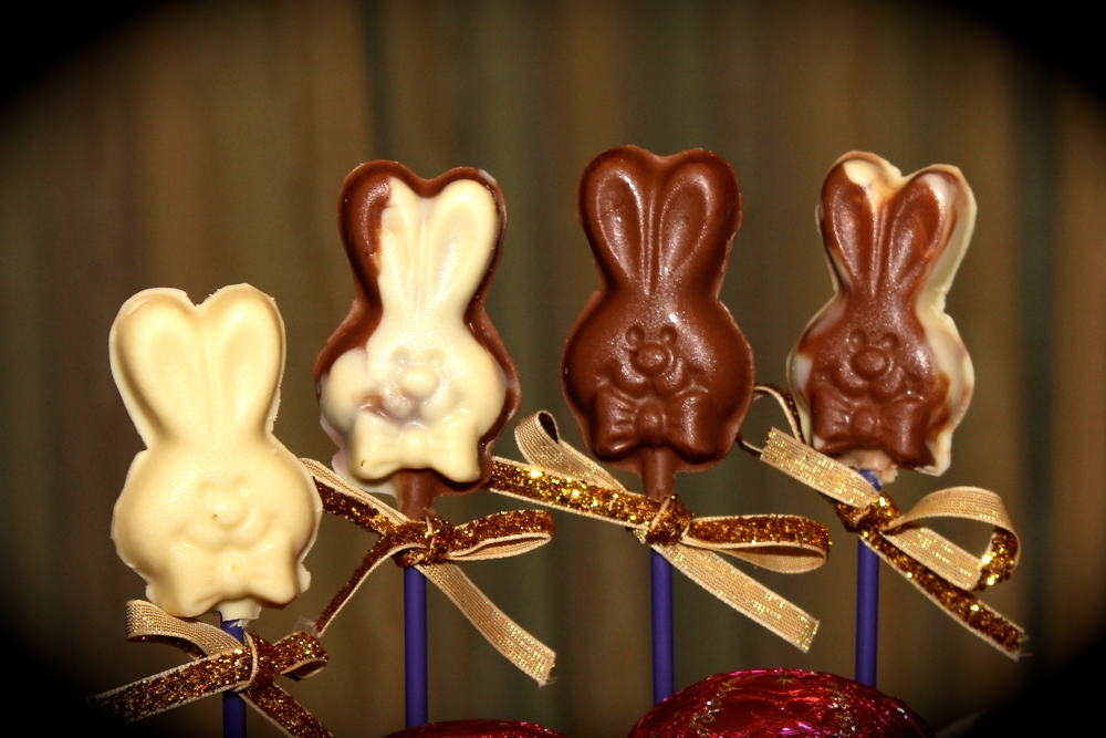 Chocolate Bunny Lollypops