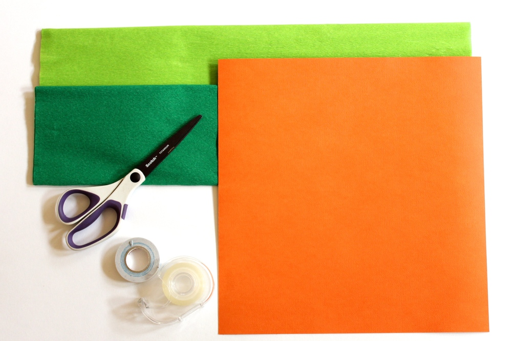 Step 1 - How to make a Carrot Favour Bag