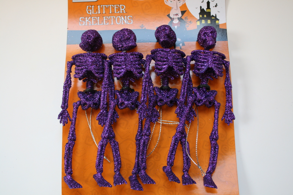 Glitter Skeletons - Halloween Graveyard Tutorial
