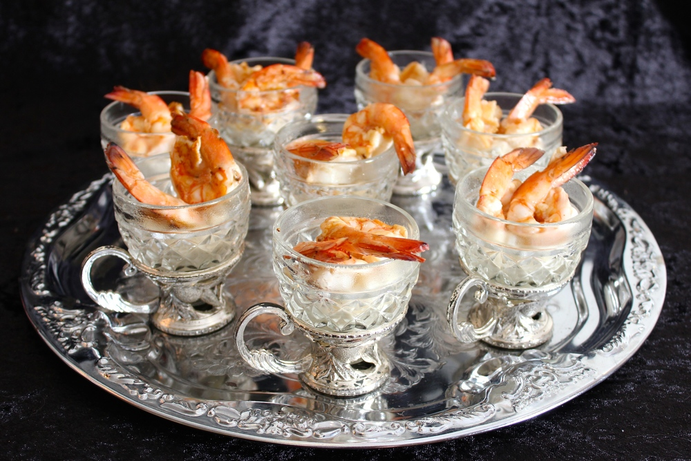 Gothic Dinner Party - Prawns with Green Olive Aioli