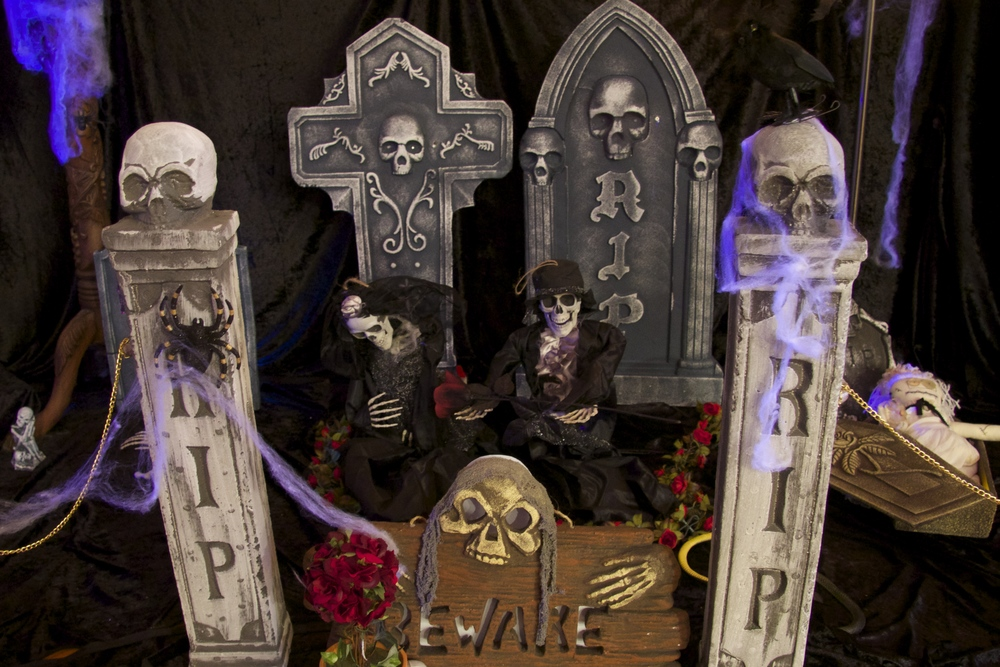 Halloween indoor graveyard