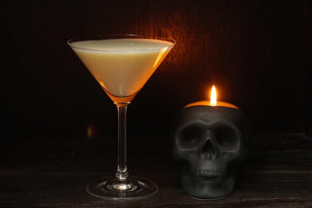 Halloween Liquified Ghost Cocktail