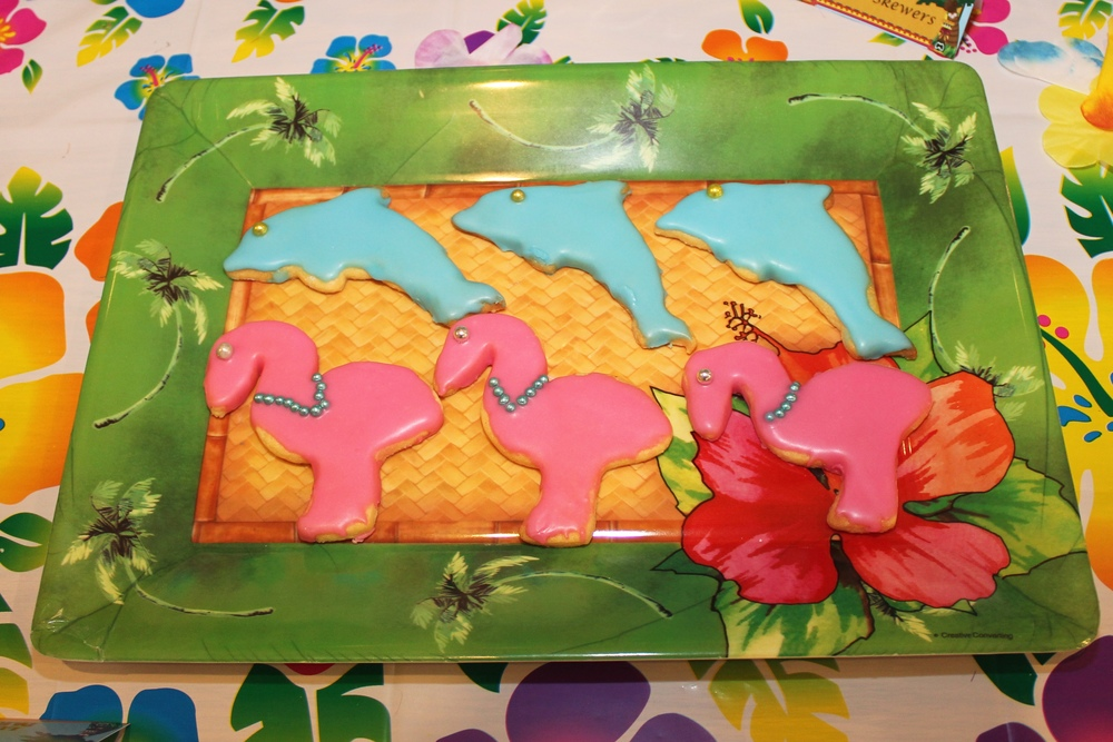 Dolphin and Flamingo Cookies