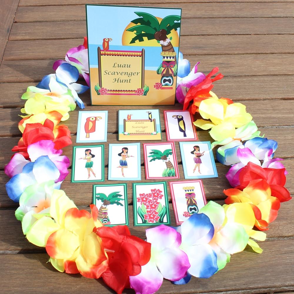 Hawaiian Luau Scavenger Hunt - www.chicpartyideas.com