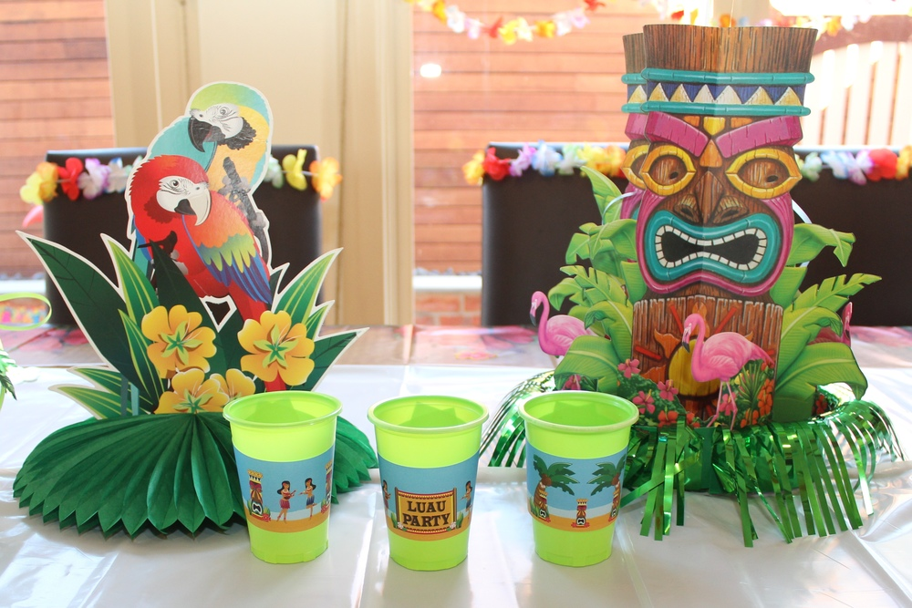 Hawaiian luau party with desert table and games — chic