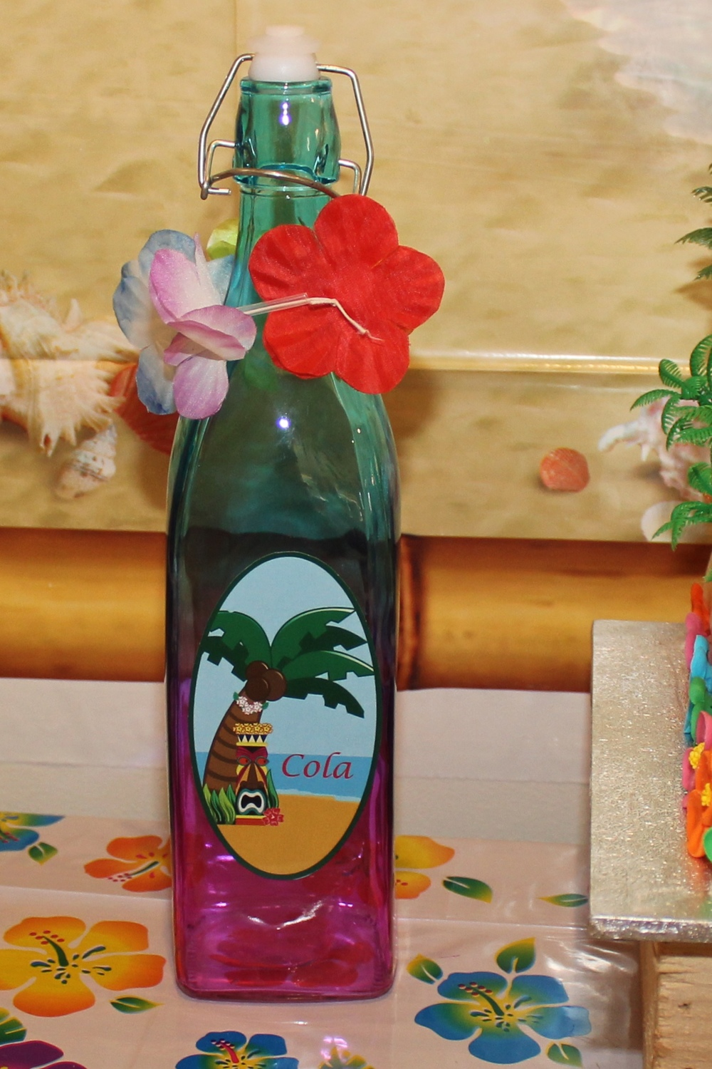 Hawaiian Luau Printable Bottle label