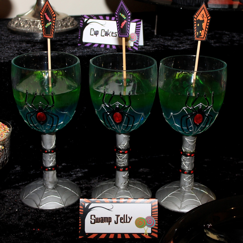 Halloween with party jelly cups