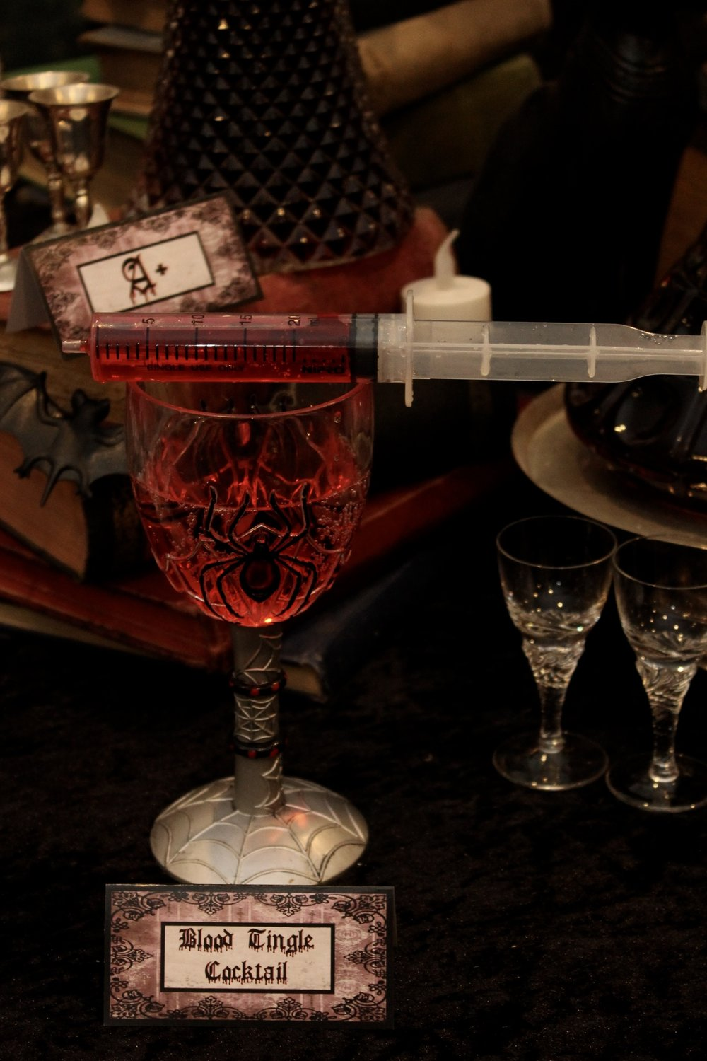 Halloween Vampire Syringe Cocktail